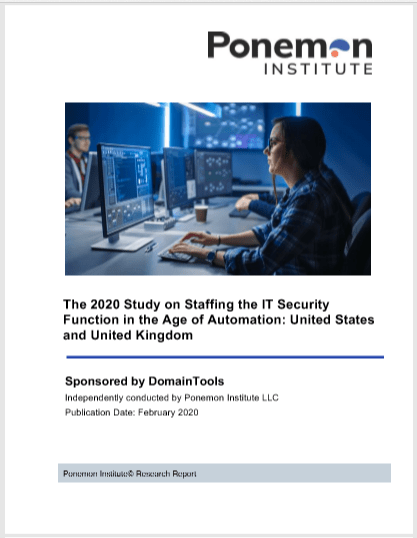 2020 Ponemon Survey Report: Staffing the IT Security Function in the Age of Automation