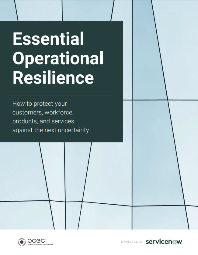 OCEG Think Tank White Paper: Essential Operational Resilience