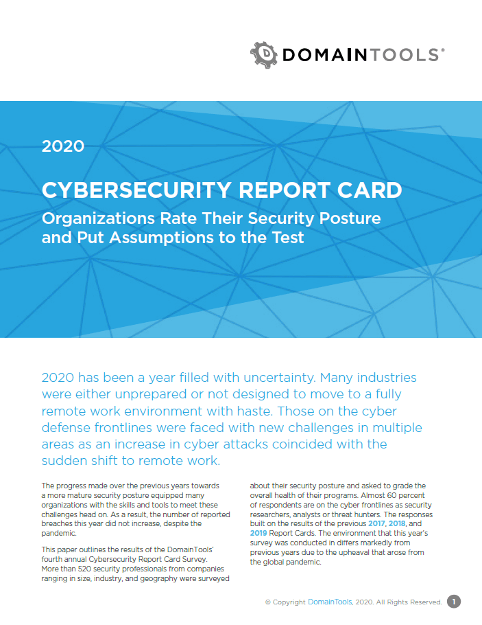 2020 Cybersecurity Report Card